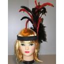 Černočervená čelenka Charleston 4-335409ba-Ru