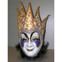 Maska bílá paprsky zlaté 147587B-Li