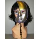 Maska stříbrnozlatá 21103 Li