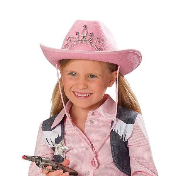 Klobouk kovbojský růžový 4 110243 -Ru