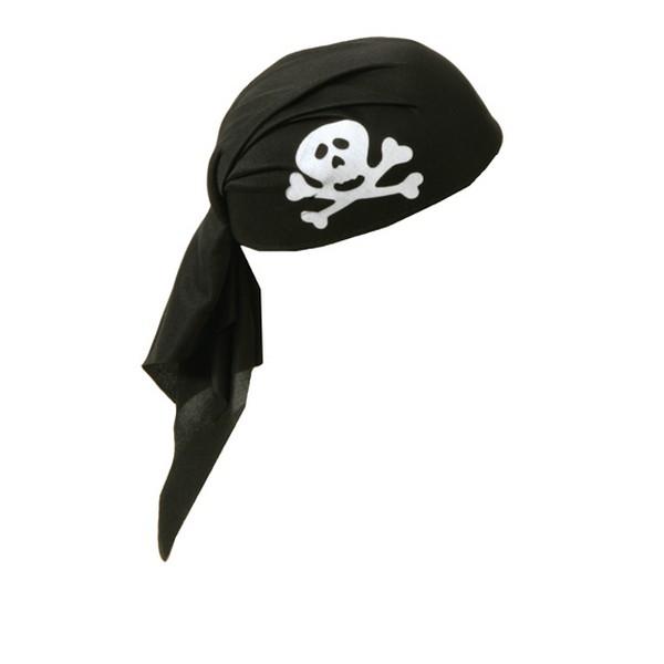 Klobouk -pirát.šátek černý 4 185723 - Ru