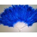 Vějíř tm.modrý péřový 6512x-Li