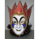 Maska Benátky bíločervená 147587D-Li