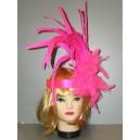 Růžová čelenka Charleston 4-335409l-Ru
