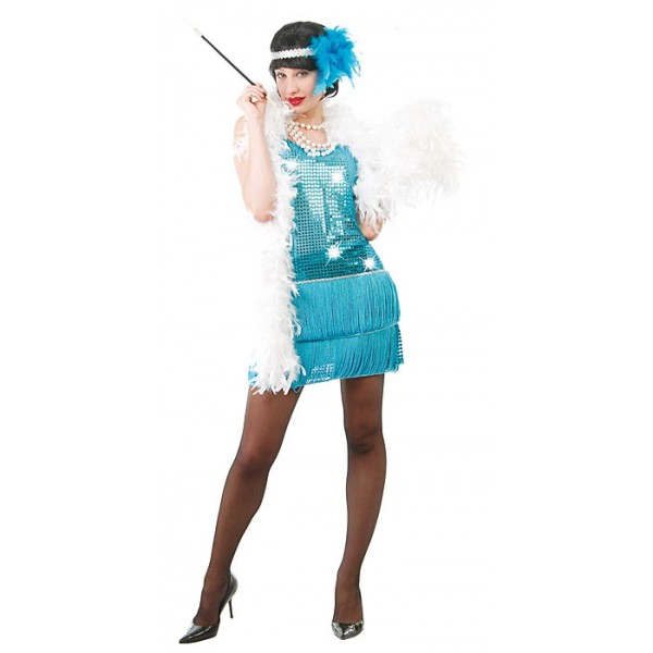 Charleston - modré šaty 1F 80255 - Gu
