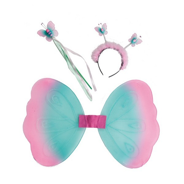 Křídla - Motýlek set - křídla, čelenka, hůlka 6 13619 - Ru