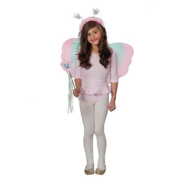 Motýlek set- křídla,čelenka,hůlka 6 13615 - Ru