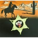 Šerifská hvězda s obr. 6 111874 - Ru