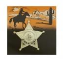 Šerifská hvězda zlatá 10ks 6 111910 - Ru