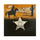 Šerifská hvězda zlatá malá 10ks 6 111911 - Ru