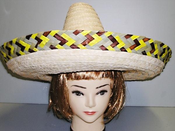 Klobouk mexický s hnědožlutým lemem 4011-Li