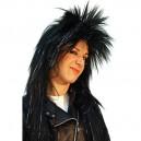 Paruka Punky - černá s flitry 5F 4601 - Gu