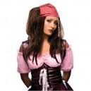 Paruka pirátka červený šátek - 5 51701 - Ru