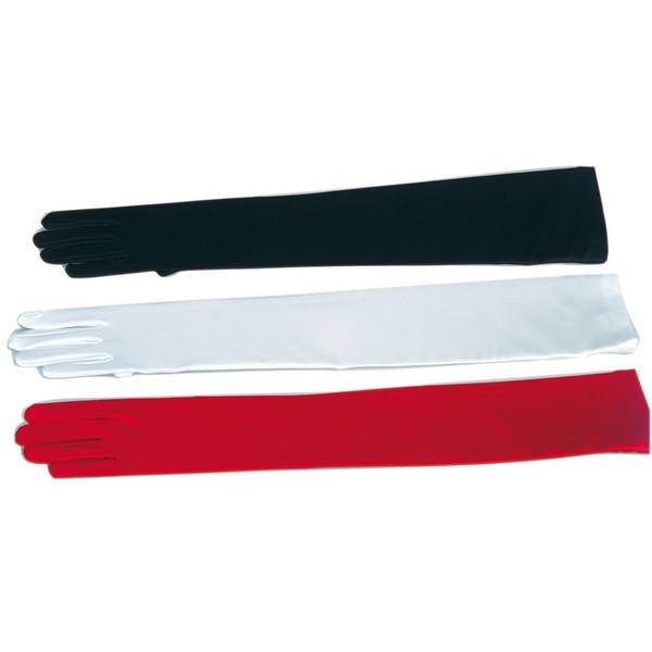 Rukavice hladké dlouhé červené 6 302617 - Ru