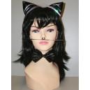Set černá kočka - uši, fousky, motýlek 022-Li