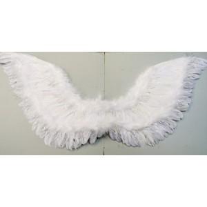 Křídla bílá péřová s lurexem 1331 - Li
