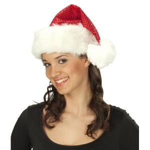 Vánoční čepice flitrová 4 22040 - Ru