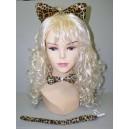 Set gepard (dětský) uši, motýlek, ocásek - PT7128A-Li
