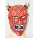 Maska čert s bílými rohy 013071 - Li