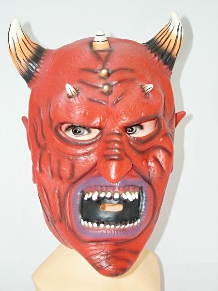 Maska čert s pruhovanými rohy 013071 - Li