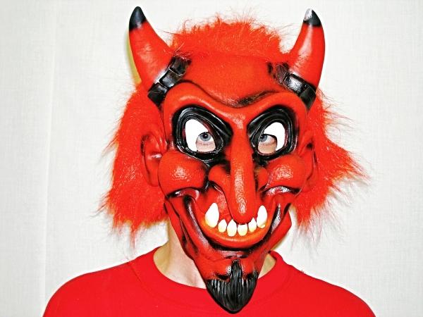 Maska čert Pekelník červený 5356D-a-Wi