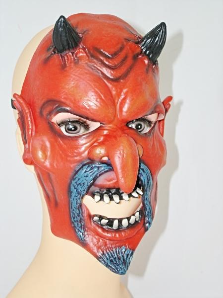 Maska čert černočervený 013075 - Li
