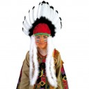 Čelenka indiánská bílo-černá 6 220664 - Ru