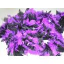 Boa dvoubarevné černo-fialové 6 301952čef - Ru