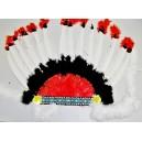 Indiánská čelenka červeno-bílá PT 9108 - De