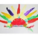 Čelenka indiánská s červeno-žlutým středem PT 5187 - De