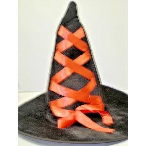 Klobouk čarodějnice černočervený12144-3B-Li