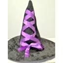 Klobouk čarodějnice černofialový 12144-3A-Li