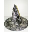 Klobouk čarodějnice černostříbrný 12144-2C-Li
