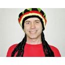 Reggea čepice s vlasy 4 465127 - Ru