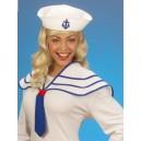 Námořnice bílý límec a čepice 5469M-b-Wi