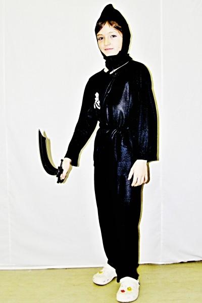 Kostým černý Ninja (134 - 140) 12541ex- Li