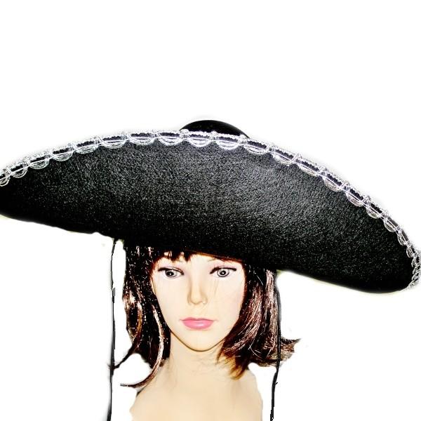 Klobouk mexický černý 3290 -Li